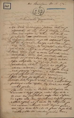 348   Pismo Dragutina Hercega Ivanu Kukuljeviću