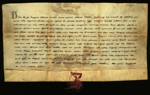 I-3: Kralj Bela IV. dosuđuje gradu Varaždinu otok Tursoy, koji je svojatao župan Juraj, sin župana Luke