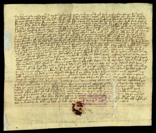 III-23: Herman Celjski, pozivajući se na ispravu čazmanskog kaptola od 7.XII. 1411., produžuje parnicu između grada Varaždina i plemića od Kneginca do 17.I. 1412.