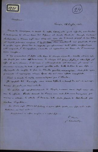 1221   Pismo Giuseppea Valentinellia Ivanu Kukuljeviću
