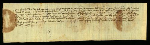 V-42: Kralj Sigismund osuđuje radi ogluhe Ivana i Jurja sinova Antuna od Grebena, u parnici s gradom Varaždinom
