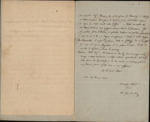 323 | Pismo dr. Giovannija Gurata Ivanu Kukuljeviću