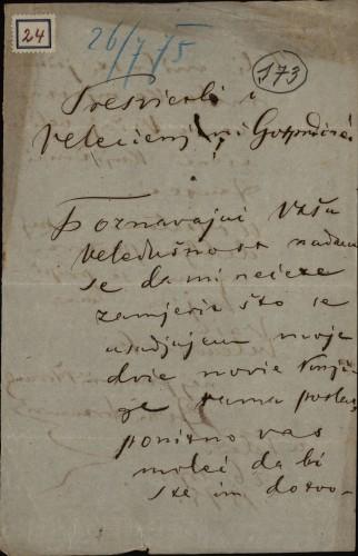 24 | Pismo Ivana Antunovića Ivanu Kukuljeviću