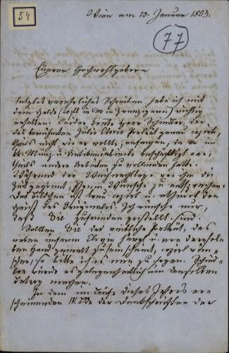 54 | Pismo Josipa Bergmanna Ivanu Kukuljeviću