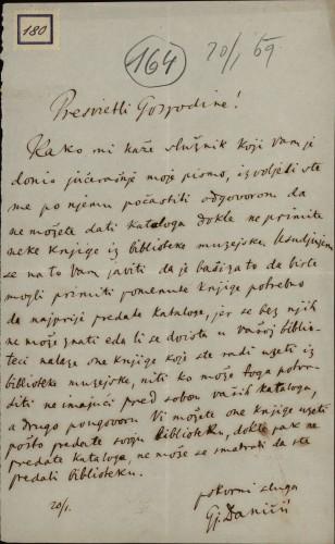 180 | Pismo Đure Daničića Ivanu Kukuljeviću