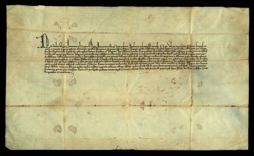 IV-25: Kraljica Barbara izuzimlje posjed Kneginec od plaćanja kunovine
