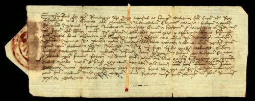 V-34: Kralj Sigismund nalaže varaždinskom županu i plemićkim sucima, da pošalju svoga izaslanika, koji će istražiti istinu o napadaju Andrije od Grebena na varaždinskog građanina Barnabu, o čemu neka ga obavijeste