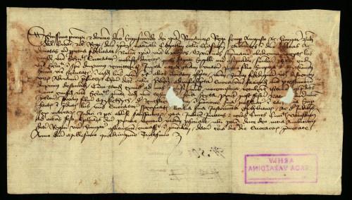 V-45: Čazmanski kaptol izvješćuje kralja Sigismunda, da je pozvao pred njega za 6.-13. I. 1430. Ivana, sina Mikotića od Bartolovca, u parnici s gradom Varaždinom