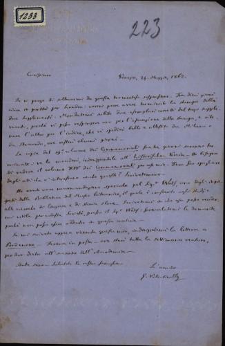 1233   Pismo Giuseppea Valentinellia Ivanu Kukuljeviću