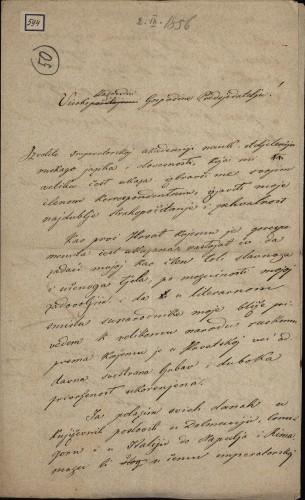 594 | Pismo Ivana Kukuljeviću