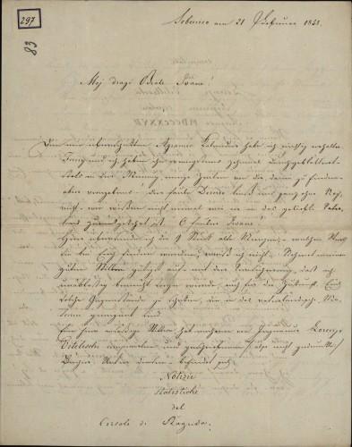 297   Grivičićevo pismo Ivanu Kukuljeviću