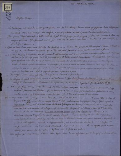 324 | Pismo dr. Giovannija Gurata Ivanu Kukuljeviću