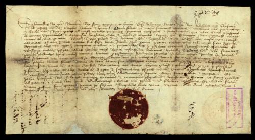 V-37: Kralj Sigismund nalaže Čazmanskom i Požeškom kaptolu, da pošalju svoje izaslanike, u prisustvu kojih će kraljev izaslanik označiti međe između posjeda grada Vaaždina te posjeda zgrabačkog biskupa Ivana i zagrebačkog kaptola