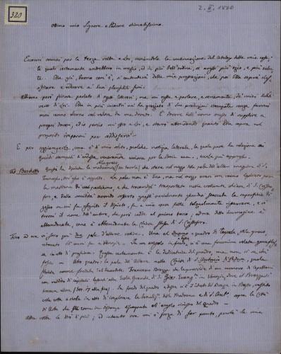 320 | Pismo dr. Giovannija Gurata Ivanu Kukuljeviću