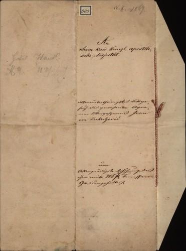 600 | Koncept pisma Ivana Kukuljevića