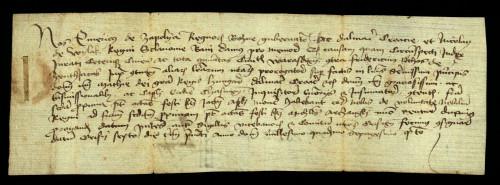 XI-137: Banovi Emerik Zapoljski i Nikola Iločki odgađaju do 08.04. 1464. parnicu između grada Varaždina i Fridriha Štosa.