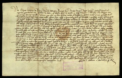 XI-145: Ladislav de Polocz, dvorski sudac kralja Matije Korvina, određuje, da se u parnici između grada Varaždina i plemića od Zajezde stranke pokore presudi prostonotara kraljeva i palatinova.