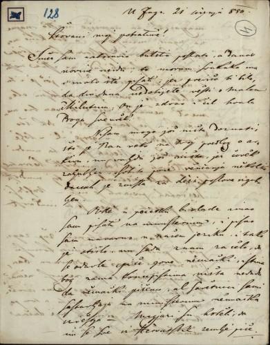 128 | Pismo Janka Cara Ivanu Kukuljeviću