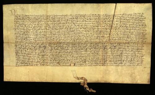 III-22: Herman Celjski, pozivajući se na ispravu čazmanskog kaptola od 7.XII. 1411., koju prepisuje, odlučuje, da dvije trećine posjeda Kneginec pripadaju gradu Varaždinu, a treća trećina, plemićima od Kneginca, ako do Duhova 1412. dokažu svoje pravo na Kneginec