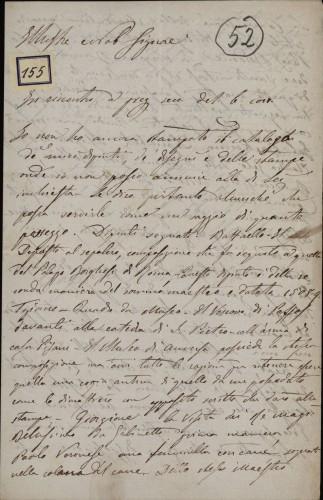 155 | Pismo Giuseppea Colbacchinija Ivanu Kukuljeviću