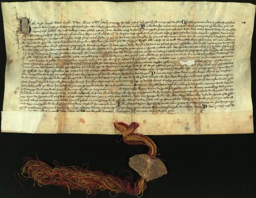 II-6: Kralj Bela IV, dopušta prodaju i zamjenu zemlje u Zaladskoj županiji varaždinskog građanina Kureja s palaćom i pet kurija u Varaždinu kraljičinog dvorjanika Dionizija