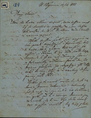 129 | Pismo Janka Cara Ivanu Kukuljeviću