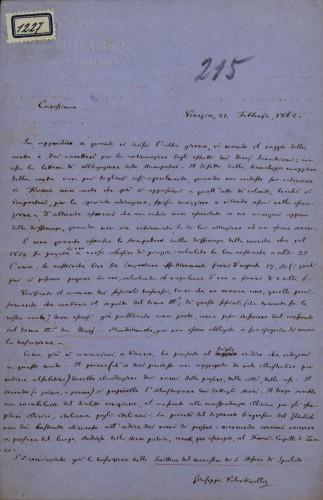 1227   Pismo Giuseppea Valentinellia Ivanu Kukuljeviću