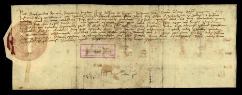 VI-71: Kralj Sigismund odgađa do 13.01.1435. predočenje dokumenata Elizabete, unuke Stjepana od Zabočine, u parnici s gradom Varaždinom.