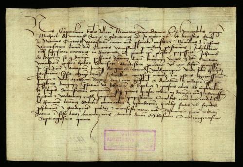 XI-153: Stolnobiogradski kaptol izjavljuje, da su pred njim zastupnici grada Varaždina uložili protest protiv Ivana od Kapolne radi prisvajanja posjeda Kneginec.
