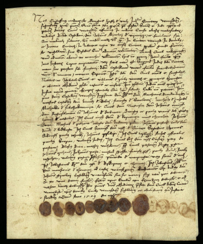 XII-167: Plemićki suci varaždinske županije Kristofor Madaras i Juraj Heg de Verh izjavljuju, da su osuđeni na smrt kastelan Benedikt (Nagh) i njegov familijar radi razbojsva u gradu Varaždinu.
