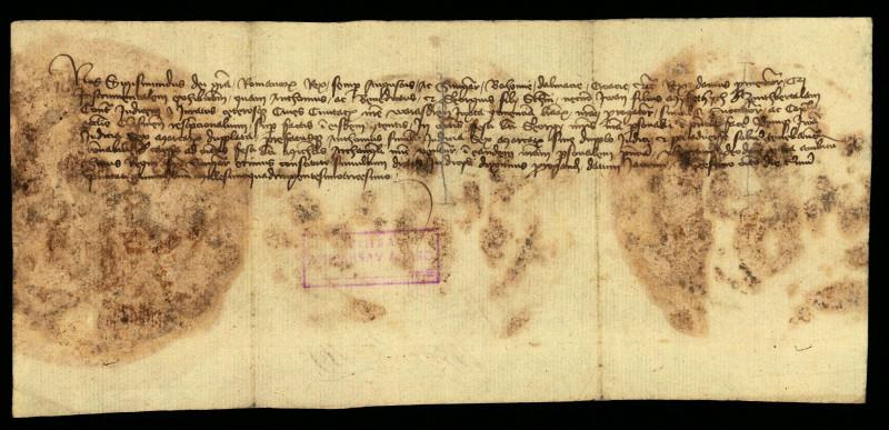 V-60: Kralj Sigismund poziva preda se za 29.09. - 6.10.1430. Benedikta, Jurja i Ivana od Bartolovca u parnici s gradom Varaždinom.
