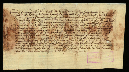 V-46: Čazmanski kaptol izvješćuje kralja Sigismunda, da je pozvao pred njega za 6.-13.I.1430. Ivana i Jurja, sinove Antuna od Rebena, u parnici s gradom Varaždinom