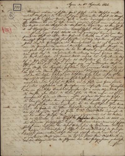 593 | Koncept pisma Ivana Kukuljevića
