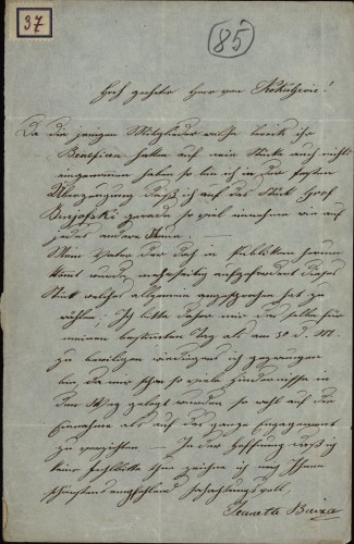 37 | Pismo Ivane Bajza Ivanu Kukuljeviću