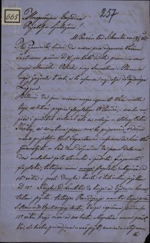 665 | Pismo Alojza Lovrečića Ivanu Kukuljeviću