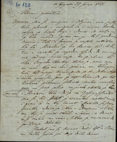 120 | Pismo Janka Cara Ivanu Kukuljeviću