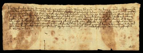 VI-64: Kralj Sigismund odgađa do svoga povratka iz Njemačke predočenje dokumenata Elizabete, unuke Stjepana od Zabočine, u parnici s gradom Varaždinom.