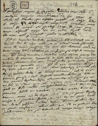 592 | Koncept pisma Ivana Kukuljevića