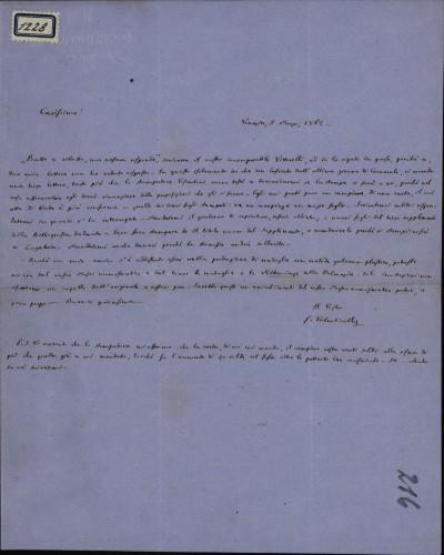 1228   Pismo Giuseppea Valentinellia Ivanu Kukuljeviću