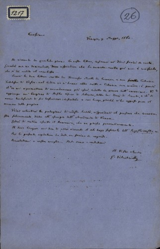 1217   Pismo Giuseppea Valentinellia Ivanu Kukuljeviću