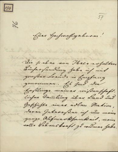 156 | Pismo Sigmunda von Conrada Ivanu Kukuljeviću