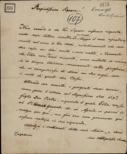 596 | Koncept pisma Ivana Kukuljevića