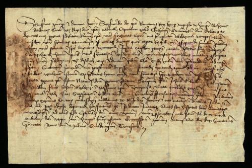 V-47: Čazmanski kaptol izvješćuje kralja Sigismunda da je pozvao pred njega za 6.-13.I.1430. Jurja, Nikolu i Andriju od Ludbrega u parnici s gradom Varaždinom