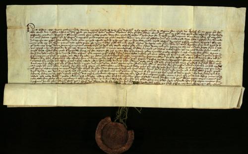 II-14: Ugarski palatin Stjepan prepisuje i potvrđuje ispravu čazmanskog kaptola od 14.VIII 1390., u kojoj je transumirana isprava kralja Sigmunda od 23.IV. 1390., koje se odnose na nasljedstvo Urgovanovih posjeda