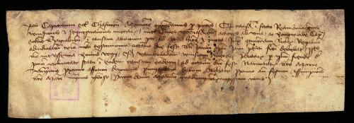 V-36: Čazmanski kaptol odgađa uređenje međa posjeda grada Varaždina i posjeda zagrebačkoga kaptola radi odsutnosti kraljevog izaslanika do 15.IX. 1429.