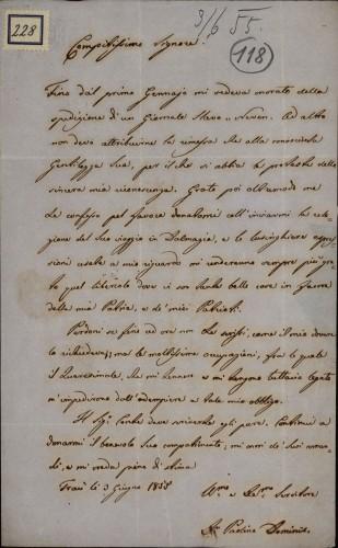228 | Pismo dr. Paolina Dominisa Ivanu Kukuljeviću