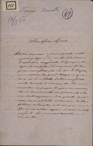 112 | Pismo Tommasa Burata Ivanu Kukuljeviću