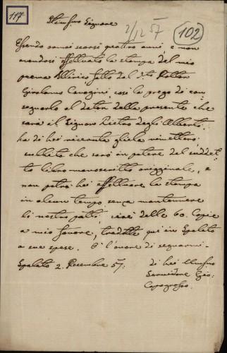 117 | Pismo Ivana Capogrosso Kavanjina Ivanu Kukuljeviću
