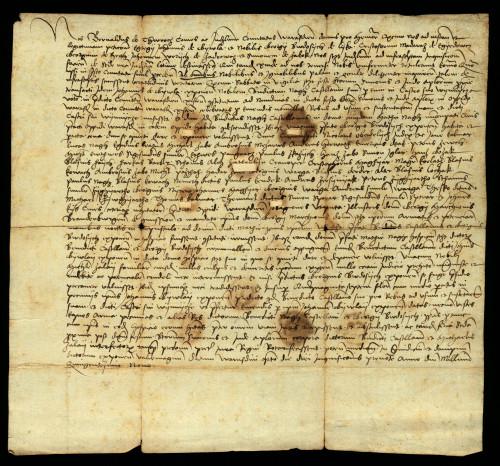 XII-168: Varaždinski župan Bernard de Thurocz i plemićki suci izjavljuju, da je istraga dokazala, da su varaždinski građani ubili kastelana Benedikta Nagha i njegova slugu.