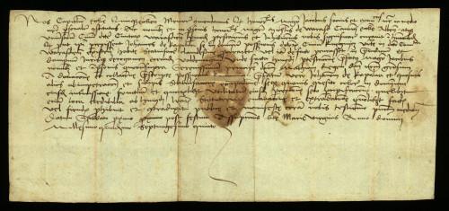 XI-154: Pečuški kaptol izjavljuje, da je pred njim zastupnik grada Varaždina uložio protest protiv Ivana od Kapolne radi prisvajanja posjeda Kneginec.